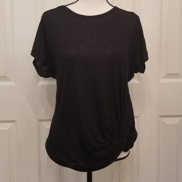 51910d10b38b1 Liz Lange for Target Tops   Maternity Szm Black Tie Front Short ...